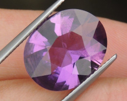 6.53cts, Amethyst,  Top Cut, Clean, Untreated,
