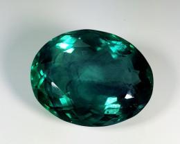 "51.20 ct "" Big Gem"" Oval Cut Natural Bi - Color Fluorite"
