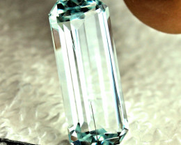 8.70 Carat VS1 Himalayan Silver Blue Aquamarine - Gorgeous