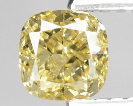 0.73 Cts Untreated Natural Fancy Yellow Color Loose Diamond VS1