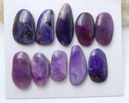 10 PCS Natural Sugilite Gemstone Cabochons,72.5 Ct D401