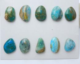 10pcs New arrival natural peruvian blue opal beads designer beads wholesale