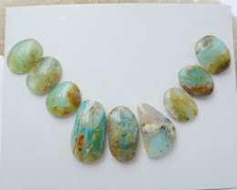 9pcs New arrival natural peruvian blue opal beads designer beads wholesale