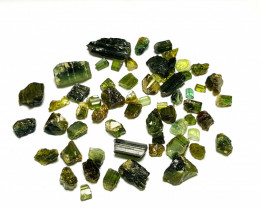 Amazing Natural color gemmy Rough Tourmaline lot 155 Cts-Afghanistan