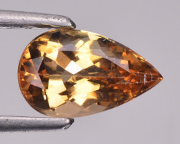 1.31 Cts Natural Imperial Topaz Oval Faceted Brazil Gem