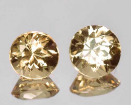 1.77 Cts Natural Imperial Topaz Round Pair Faceted Brazil Gem