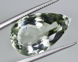 12.27 Crt Natural Prasiolite Green Amethyst Faceted Gemstone.( AG 76)