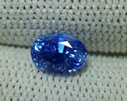 UNHEATED 1.11 CTS CERTIFIED STUNNING CORNFLOWER BLUE SAPPHIRE CEYLON