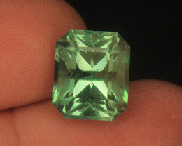Wow Very Beautiful Cut Green Color Fluorite in Fancy Cut From Pakistan