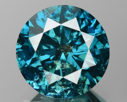 1.73 Cts Sparkling Rare Fancy Intense Blue Color Natural Diamond