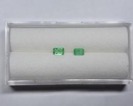 0.31 Carat Panjshir Emerald Pair