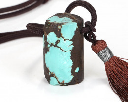 New Arrival Turquoise Drilled Gemstone Pendant, Turquoise Jewelry Necklace