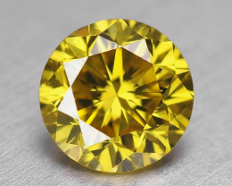 0.42 Cts UNTREATED SPARKLING FANCY VIVID YELLOW GREEN NATURAL LOOSE DIAMOND