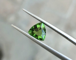 1.15 Ct Natural Greenish Trillion Cut Transparent Tourmaline Gemstone