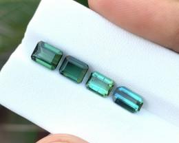 4.50 Ct Natural Blueish & Green  Transparent Tourmaline Gems Parcels