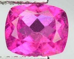 1.08 Cts Natural Raspberry Pink Rubelite Tourmaline Cushion Mozambique