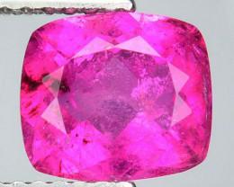 1.65 Cts Natural Raspberry Pink Rubelite Tourmaline Cushion Mozambique