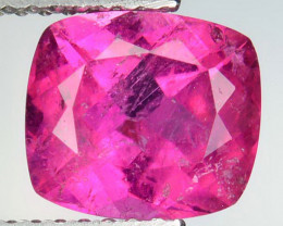 2.30 Cts Natural Raspberry Pink Rubelite Tourmaline Cushion Mozambique