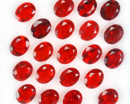 ~FIERY RED~ 5.13 Cts Natural Mexican Fire Opal 5x4 mm Oval Cut 21 Pcs