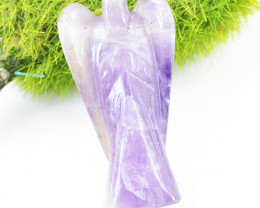 Genuine 79.00 Cts Amethyst Healing Angel