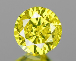 0.12 Cts SPARKLING RARE FANCY PARROT GREEN NATURAL DIAMOND
