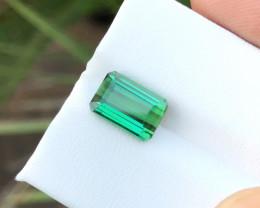 3.40 Ct Natural Greenish Transparent Tourmaline Gemstone
