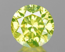 0.14 Cts SPARKLING FANCY PARROT GREEN NATURAL LOOSE DIAMOND