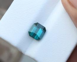 1.65 Ct Natural Blueish Transparent Small Ring Size Tourmaline Gemstone