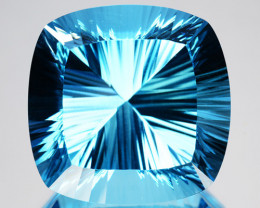 ~FABULOUS~ 54.08 Cts Natural Sky Blue Topaz Cushion Concave Cut Brazil