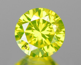 0.24 Cts SPARKLING FANCY PARROT GREEN NATURAL LOOSE DIAMOND