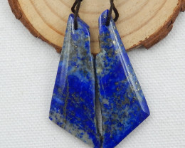 Nugget High quality Lapis Lazuli natural earrings beads, stone for earrings