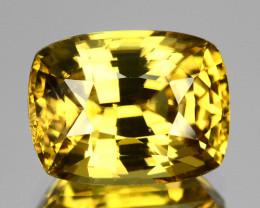 3.75 Cts Natural Yellow Zircon Cushion Radiant Cut Tanzania