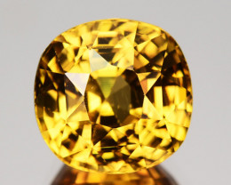 4.74 Cts Natural Yellow Zircon Cushion Cut Tanzania