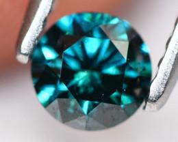 0.39Ct Fancy Green Round Brilliant Cut Natural Diamond TR07