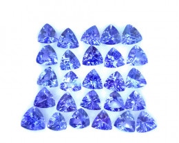 11.45 Cts Natural Purple Blue Tanzanite 5mm Trillion 26Pcs Tanzania
