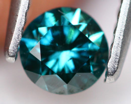 0.38Ct Fancy Green Round Brilliant Cut Natural Diamond TR11