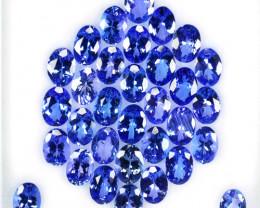25.24 Cts Natural Purple Blue Tanzanite 7x5mm Oval 33Pcs Tanzania