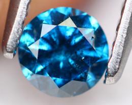 0.32Ct Fancy Blue Round Brilliant Cut Natural Diamond TR13