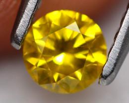0.32Ct Fancy Yellow Round Brilliant Cut Natural Diamond TR15