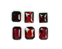 2.86 Cts Natural Fancy Red Spinel Mix Shapes 6 Pcs Parcel Burma