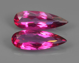 10.00 CTS SUPERIOR! TOP PEAR CUT HOT PINK-COTED TOPAZ NR!!