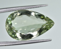 10.45 Crt Natural Green Amethyst Prasiolite Faceted Gemstone.( AG 77)