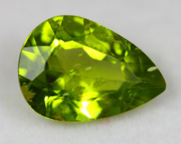 3.81Ct Natural Green Peridot Pear Cut Lot LZB683