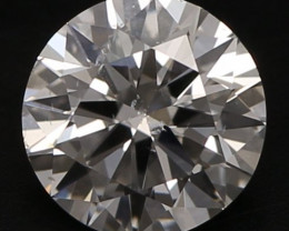 GIA Certified 0,50ct Round Natural Diamond