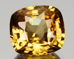 3.97 Cts Natural Yellow Zircon Cushion Cut Tanzania