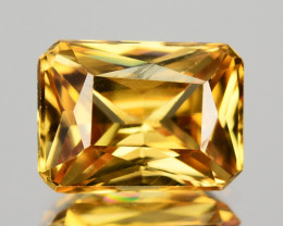 2.27 Cts Natural Yellow Zircon Octagon Cut Tanzania
