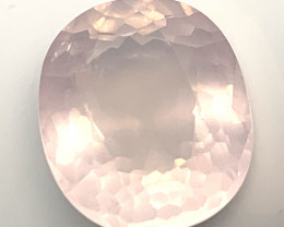 21.18ct Pale Pink Rose Quartz  Lovely NR