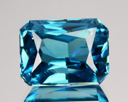 9.72 Cts MIND BLOWING NATURAL BLUE ZIRCON OCTAGON FROM CAMBODIA GEM
