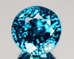 ~SPARKLING~ 8.52 Cts Natural Blue Zircon Round Cut Cambodia Gem