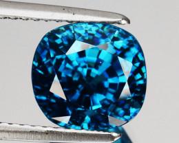 ~SPARKLING~ 7.13 Cts Natural Blue Zircon Cushion Cut Cambodia Gem